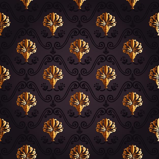 Fondo vintage de oro papel tapiz transparente