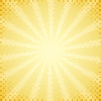Fondo vintage con rayos de sol de semitono