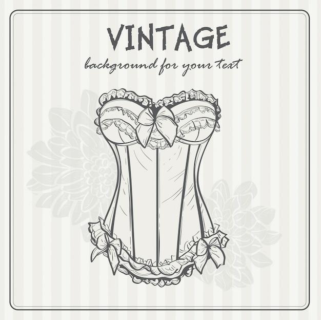 Fondo vintage con ropa interior