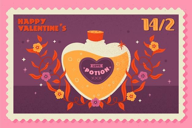 Fondo vintage de san valentín