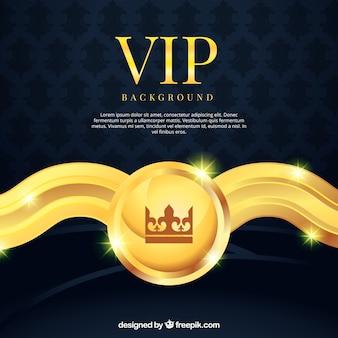 Fondo vip con elemento decorativo dorado