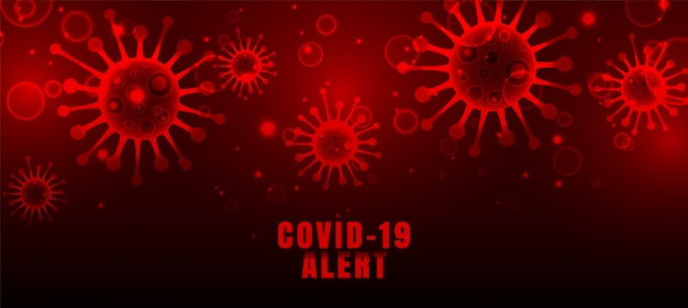 Fondo de virus rojo de brote pandémico de coronavirus covid-19