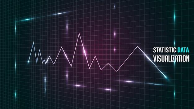 Fondo de visualización de análisis de datos estadísticos