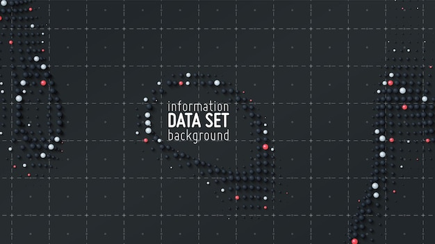 Fondo de visualización de clasificación de datos abstractos.