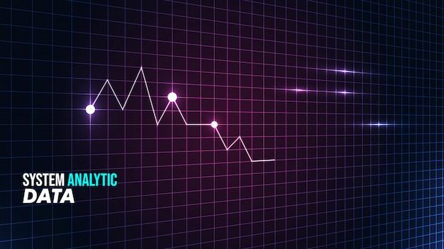 Fondo de visualización estadística con estilo futurista