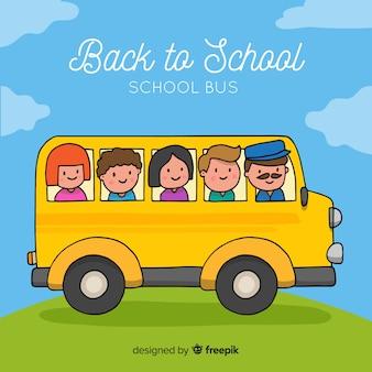 Fondo vuelta al colegio autobús