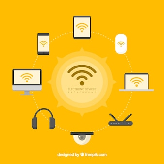 Fondo de wifi y tecnología