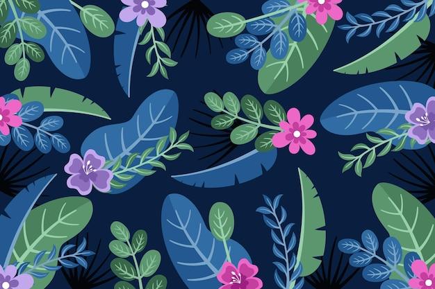 Fondo de zoom de flores tropicales