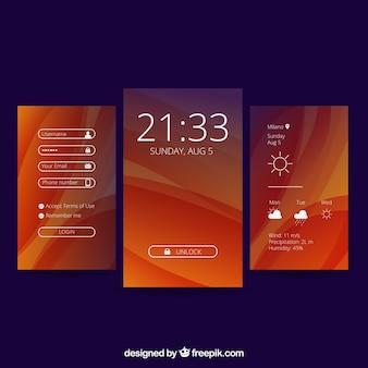Fondos abstractos para móvil