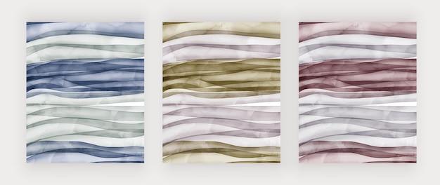 Fondos de acuarela de trazo de pincel moderno
