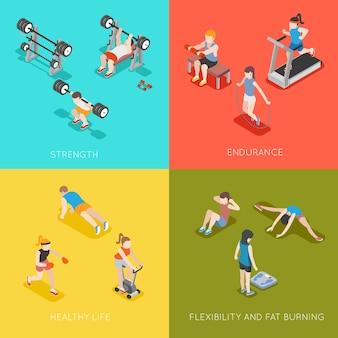 Fondos de concepto de fitness.