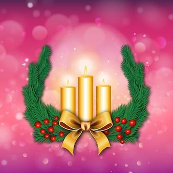 Fondos de feliz navidad con efecto de iluminación
