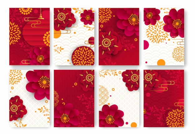 Fondos florales chinos