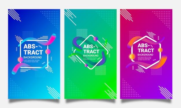 Fondos futuristas con formas geométricas abstractas y gradientes