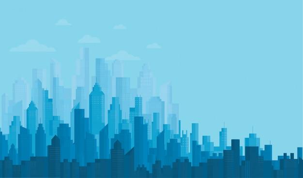 Fondos modernos del horizonte de la ciudad
