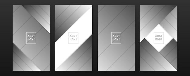 Fondos negros abstractos modernos con líneas