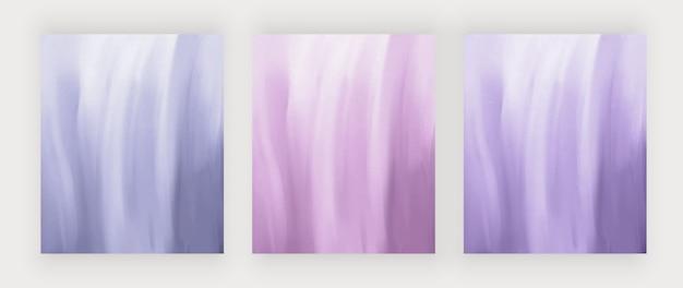Fondos de trazo de pincel de acuarela azul y púrpura.