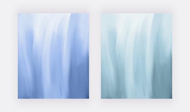 Fondos de trazo de pincel acuarela azul.