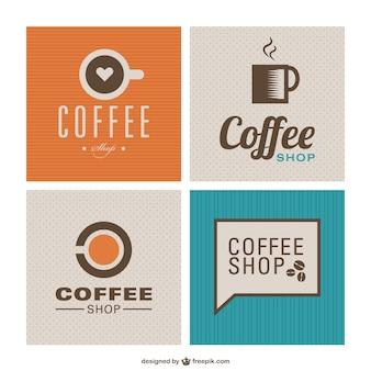 Fondos vintage de cafetería