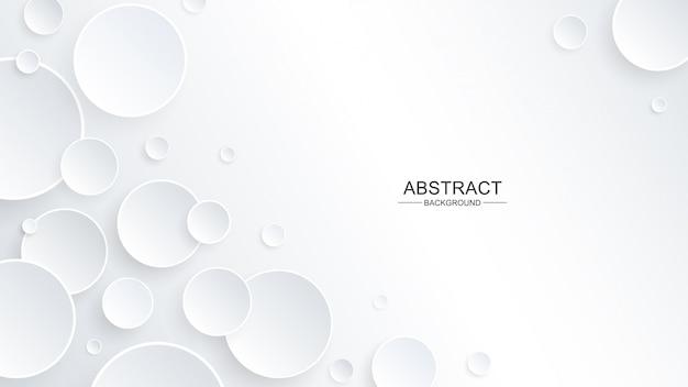 Forma de círculo abstracto en papel con una sombra paralela en el fondo