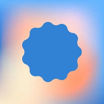 Forma de círculo azul abstracto en funky