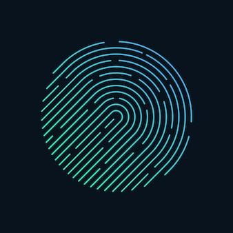 Forma de círculo de huella digital