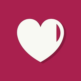 En forma de corazón, icono del día de san valentín