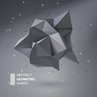 Forma geométrica abstracta triangular de cristal