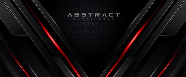 Forma geométrica tecnología futurista rojo movimiento negro línea resumen de antecedentes