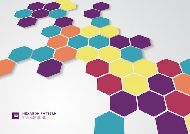 Forma de hexágonos coloridos abstractos