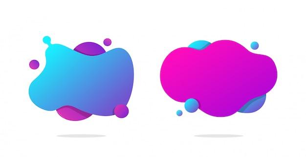 La forma líquida abstracta colorida geométrica aisló el fondo blanco. diseño fluido moderno