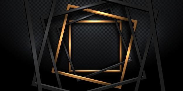 Forma de marco dorado