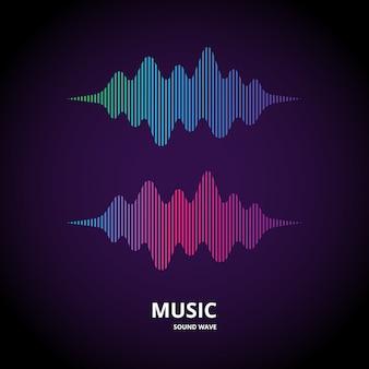 Forma de onda de la música