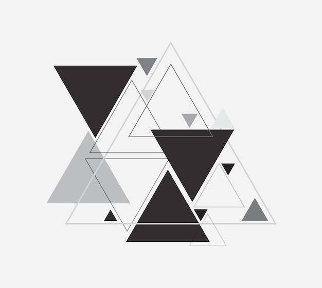 Forma de triángulo abstracto