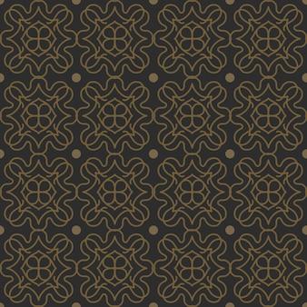 Forma vintage clásica de patrones sin fisuras