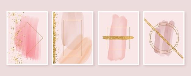 Formas abstractas de acuarela cubre estilo