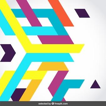 Formas abstractas de colores