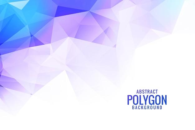 Formas abstractas coloridas de triángulo de baja poli