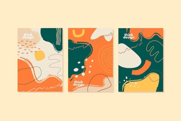 Formas abstractas cubre plantilla de colección