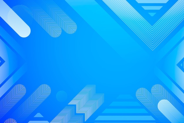 Formas abstractas de fondo azul de semitono