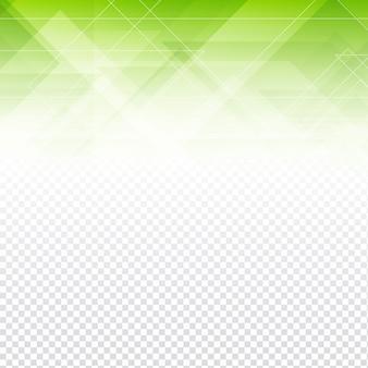 Formas abstractas poligonales verdes con un fondo transparente