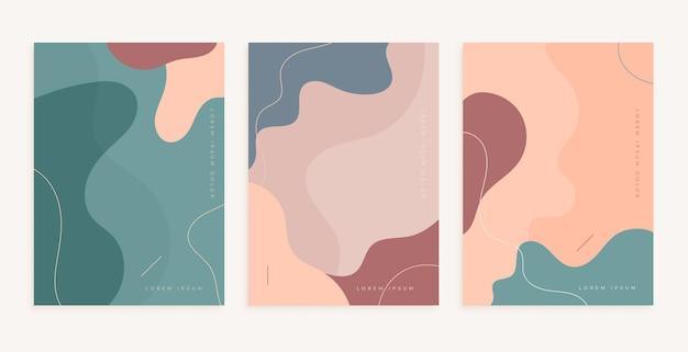 Formas abstractas suaves para el diseño de decoración de paredes