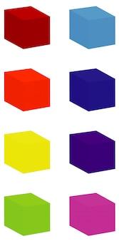 Formas cuadradas en diferentes colores