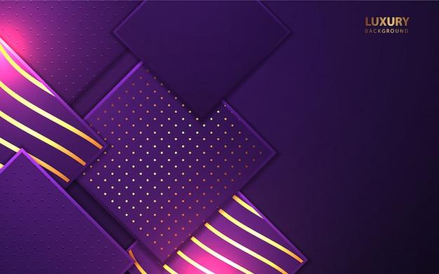 Formas cuadradas de lujo con elemento brillante