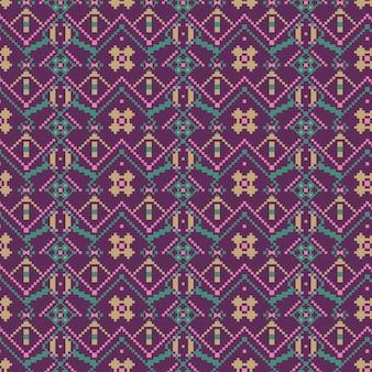 Formas de diamantes violetas de la plantilla de patrones sin fisuras de songket