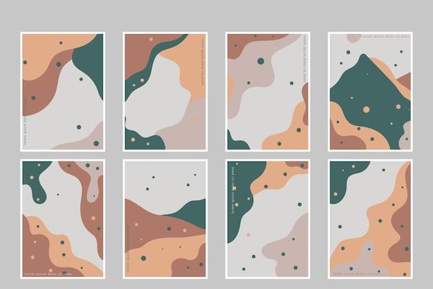 Formas dibujadas a mano cubre set colección