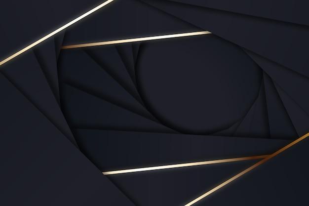 Formas de estilo geométrico sobre fondo oscuro