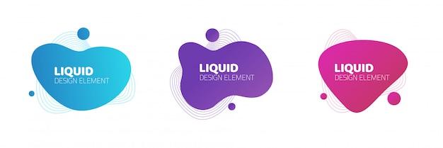 Formas fluidas o diseño de elementos gráficos de gradiente líquido
