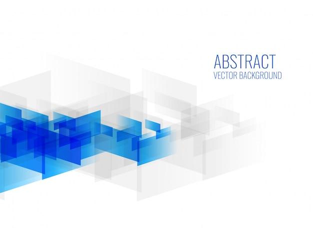 Formas geométricas abstractas azules sobre fondo blanco