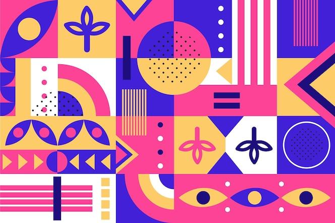 Formas geométricas abstractas en diseño plano